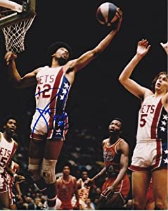 Julius Dr. J Erving Autographed Hand Signed New Jersey - Nets 8x10 Photo by Real+Deal+Memorabilia