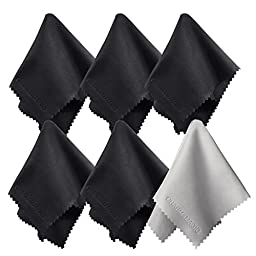 (6 Pack) Charm & Magic Microfiber Cleaning Cloths for All Type of Screens (6)
