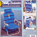 Tommy Bahama Backpack Cooler Chair Blue Striped