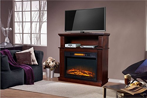 Infrared Decor Flame Electric Fireplace with Digital Temperature ...