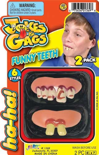 Jokes & Gags Funny Teeth Costume Teeth 2 Pack - 1