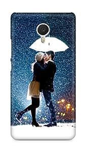 Amez designer printed 3d premium high quality back case cover for Meizu M3 Note (Kissing Couple in Rain Umbrella)