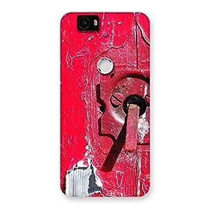 Ajay Enterprise Elant Red Door Print Back Case Cover for Google Nexus-6P