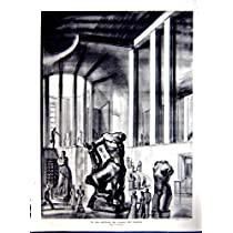 Art Museum Modern View Architecture French Print 1937