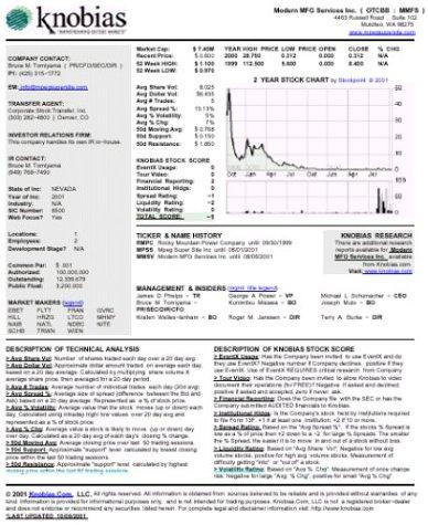 Knobias Microcap Stock Tear Sheet: Essex Corporation(AMEX:EYW) PDF