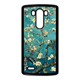 Cherry Blossom Painting Style On Blue Background Design Luxury Cover Case For LG G3(Black) with Best Plastic ALL MY DREAMS