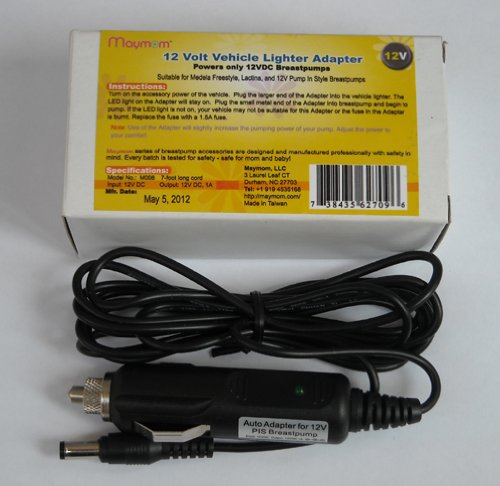 12 Volt Vehicle Lighter Adaptor for Medela Pump-in-style
