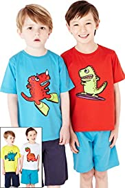 4 Pack Pure Cotton Dinosaur T-Shirt