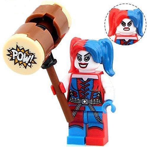 ActionFigures [MiniFigure Heroes Two Face HarleyQuinn MiniBlocks] Minifigures Educational Toys DIY Building Blocks Brinks Size (Marvel Classic Hulk Costume Kit)