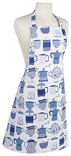 Now Designs Basic Cotton Kitchen Chef's Apron, Hot Brews Print (Teapot Apron compare prices)