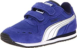 PUMA Cabana Racer Mesh V Kids Sneaker (Toddler/Little Kid),Blue/White/Peacoat,6 M US Toddler