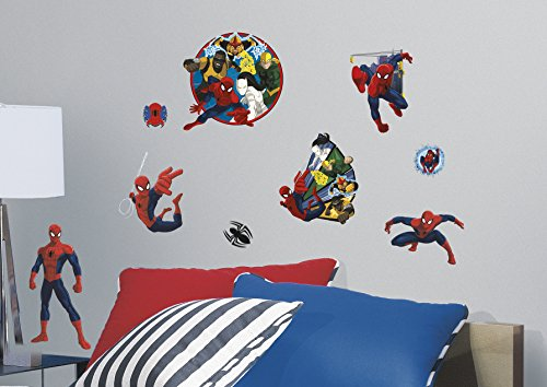 RoomMates RMK3255SCS Spider-Man Ultimate and Team Hero Peel and Stick Wall Decals