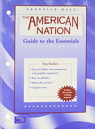 THE AMERICAN NATION 9TH EDITION ENGLISH GUIDE TO THE ESSENTIALS 2003C