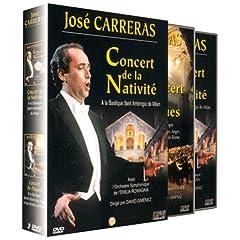 Coffret José Carreras : Concert de la Nativité à la basilique de Saint Ambrogio de Milan / Concert de Pâques, à la Basilique Ste Marie des Anges et des Martyrs de Rome - DVD