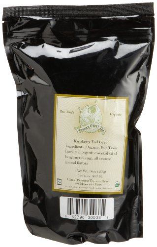 Zhena's Gypsy Tea Raspberry Earl Grey Organic Loose Tea, 16-Ounce Bag