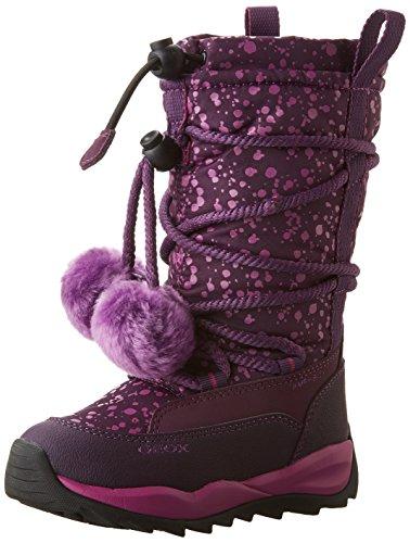 Geox J Orizont B Girl Abx A, Stivali da Neve Bambina, Viola (Dk Purple c8016), 32 EU