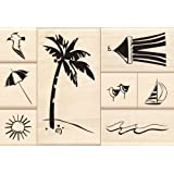 Day at the Beach Wood Stamp Set