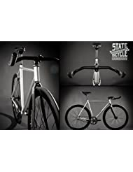 State Bicycle Contender Premium Fixed Gear Bike - Silver, 59 cm