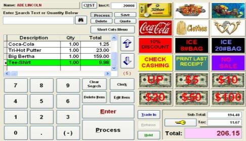 Biztracker Retailer Point of Sale Touch Screen