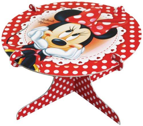 Amscan Disney Présentoir à gâteaux Minnie Mouse Rouge