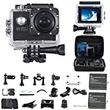 """WiFi Unterwasserkamera Wasserdichte Action Kamera """"30M HD 1080P"""" mit 2"""