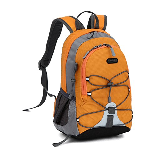 Review Sunsbell School Bag Toys Bag Kindergarten Boys Girls Nylon Backpack (Orange)