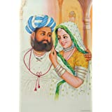 """Dolls Of India """"Rajput Couple"""" Reprint On Paper - Unframed (46.36 X 29.21 Centimeters)"""