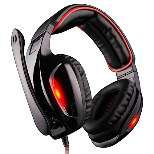 GW-SADES-SA902-71-Channel-Virtual-USB-Surround-Stereo-Wired-PC-Gaming-Headset-Over-Ear-Headphones-with-Mic-Revolution-Volume-Control-Noise-Canceling-LED-LightBlackRed