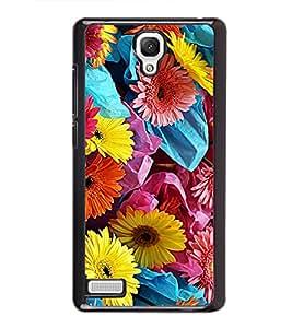Colourful Flowers 2D Hard Polycarbonate Designer Back Case Cover for Xiaomi Redmi Note :: Xiaomi Redmi Note 4G