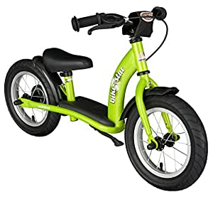 BIKESTAR® Premium Kids Safety Balance Bike for brave explorers aged from 3 years ★ 12s Classic Edition ★ Brilliant Green