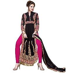 Shoponbit New Amazing Golden embroidered Apple Cut Salwar Suit
