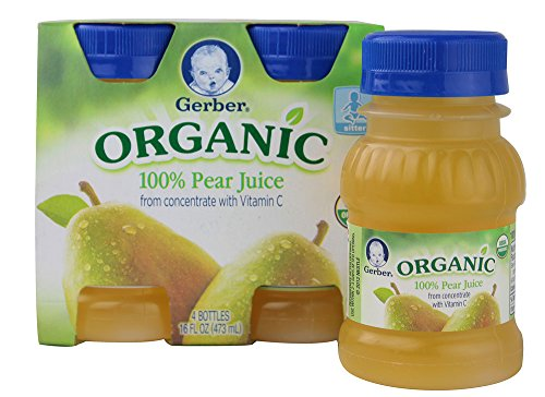 Gerber Organic Pear Juice, 4 Fluid Ounce -- 4 per case. (Pear Juice Organic compare prices)