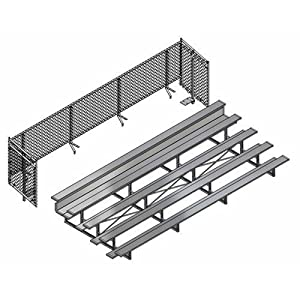 Jaypro Sports Blch5cue27 Universal Enclosure For 5 Row 27 Ft Bleacher from Jaypro