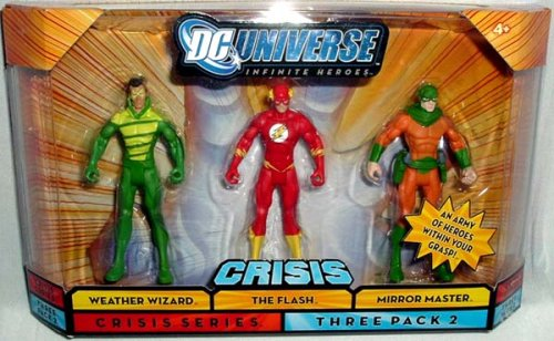 Buy Low Price Mattel DC Universe Infinite Heroes 3-Pack:Weather Wizard, The Flash, Mirror Master Figure (B001G7NDFU)
