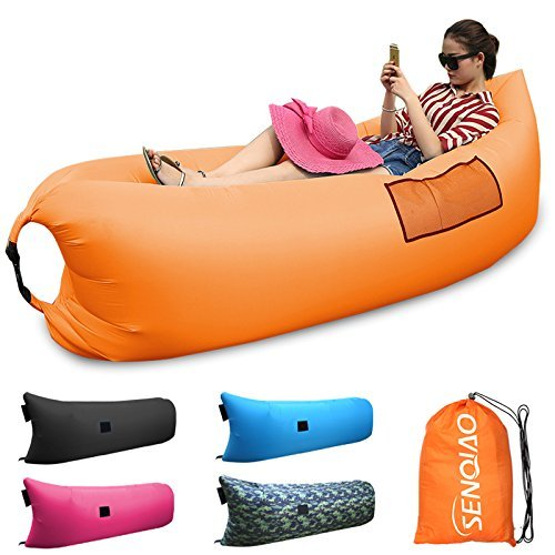 SENQIAO Inflatable Lounger Air Filled Balloon Furniture Hangout