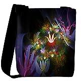Snoogg Amazing Neon Flowers Designer Womens Carry Around Cross Body Tote Handbag Sling Bags