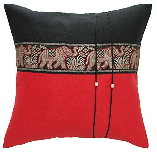 avarada striped elephant throw pillow cover decorative. Black Bedroom Furniture Sets. Home Design Ideas