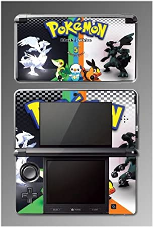 Pokemon Black and White 5th Generation Game Vinyl Decal Cover Skin Protector 21 for Nintendo 3DS