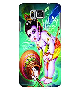 ColourCraft Lord Krishna Back Case Cover for SAMSUNG GALAXY ALPHA G850