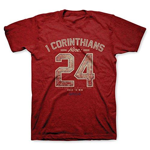 Nine 24 T-Shirt, Size XXX-Large,  Antique Cherry