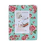 [ Accesorios para Fujifilm Instax ] Andoer® 64 Bolsillos álbum de Fotos Holder álbum de Estilo de Libro Rose Patrón Retro Vintage para Mini Fuji Instax Tarjeta 7s 8 25 50 90 LG PD233 PD221 PD239 (Verde)