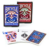 "Bicycle Vintage ""Dragon Back"" Deck with Gaff Card Red"