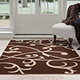 UPC 886511814684 product image for Lavish Home Berber Leaves Area Rug, 8' by 10', Brown/Tan | upcitemdb.com