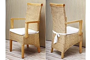 rattanstuhl mit armlehne massiv holz mahagoni. Black Bedroom Furniture Sets. Home Design Ideas
