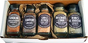 Set of 5 FreshJax Gourmet Handcrafted Spices (Seasoned Sea Salts) Gift Set
