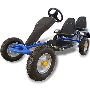 kettcar tretauto go cart mit handbremse 1 2 sitzer. Black Bedroom Furniture Sets. Home Design Ideas