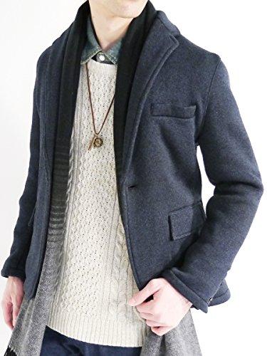 (モノマート) MONO-MART 裏起毛 テーラード ジャケット ブレザー ニット 暖かい JKT 起毛 デザイナーズ 杢MIX メンズ