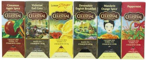 Celestial Seasonings Variety Pack Black Teas, 25-Count Tea Bags (Pack Of 6)