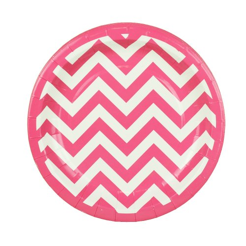 Chevron Pink Dessert PlatesClick for Price Chevron 7  sc 1 st  Best Chevron Stuff & Best Pink Chevron Party Supplies | Birthday Baby Shower Chevron ...