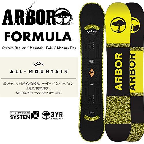 アーバー ARBOR スノーボード FORMULA ワックスサービス! (15-16 15/16) スノーボード板 アーバー スノーボード ロッカー 148cm